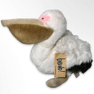 """Applause Vintage 1988 """"Scoop"""" Plush Pelican with Original Tags"""